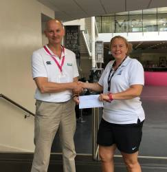 Natalie Williams (Subject Leader in PE) receives a Highly Commended award in PE